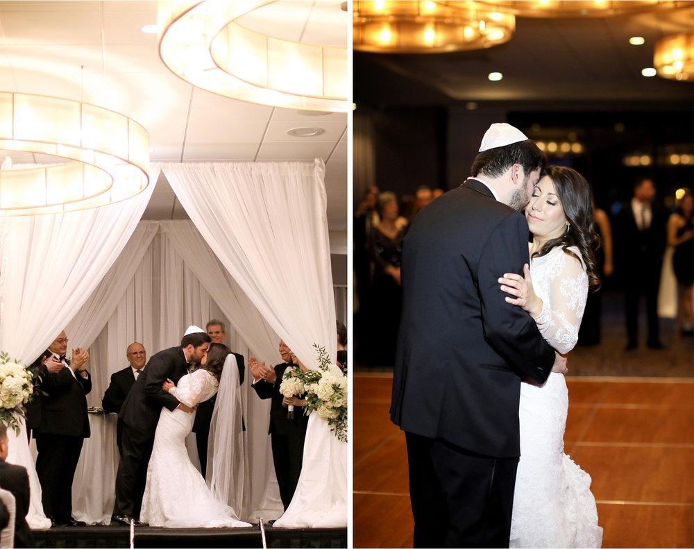 13-Minneapolis-Minnesota-Wedding-Photographer-by-Andrew-Vick-Photography-Winter-Hyatt-Regency-Hotel-Ceremony-Bride-Groom-Kiss-Yarmulke-Chuppah-Reception-Dance-Amy-and-Jordan.jpg