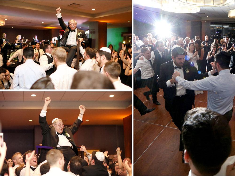 17-Minneapolis-Minnesota-Wedding-Photographer-by-Andrew-Vick-Photography-Winter-Hyatt-Regency-Hotel-Reception-Groom-Father-Parents-Guests-Horah-Dance-Yarmulke-Amy-and-Jordan.jpg