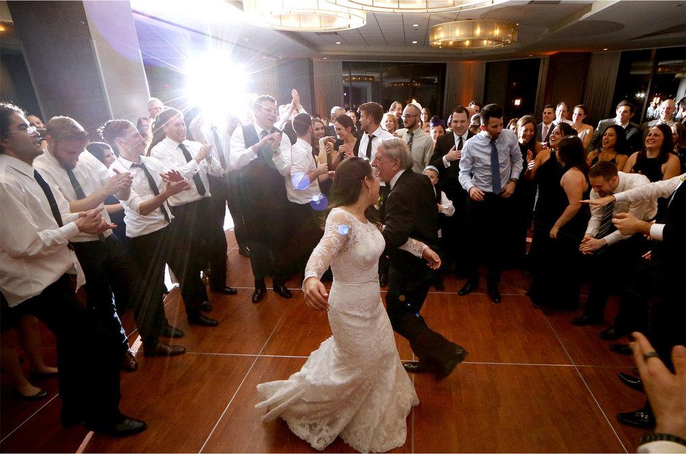 18-Minneapolis-Minnesota-Wedding-Photographer-by-Andrew-Vick-Photography-Winter-Hyatt-Regency-Hotel-Reception-Bride-Father-Parents-Guests-Horah-Dance-Amy-and-Jordan.jpg