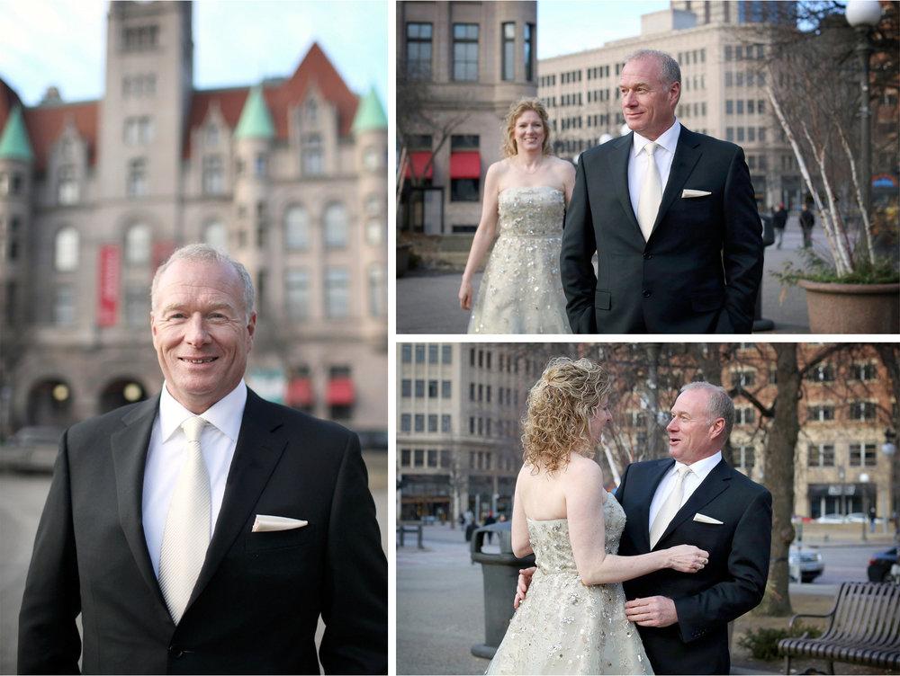 02-Saint-Paul-Minnesota-Wedding-Photographer-by-Andrew-Vick-Photography-Winter-Rice-Park-First-Meeting-Look-Bride-Groom-Landmark-Center-Dannette-and-Darren.jpg