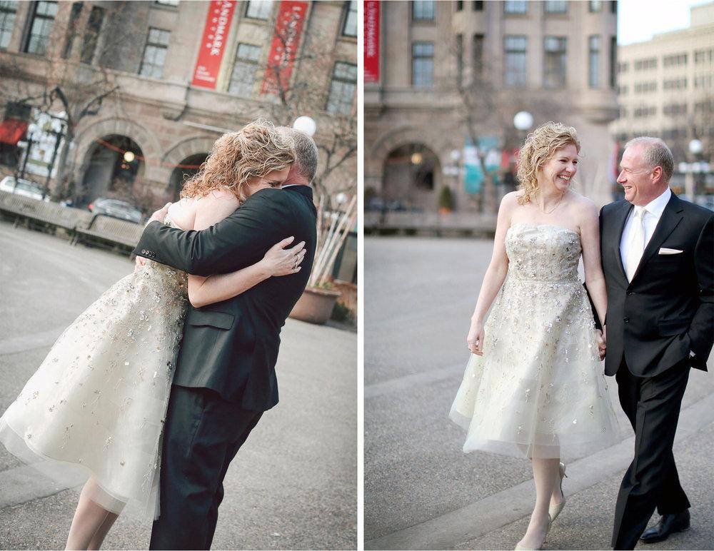04-Saint-Paul-Minnesota-Wedding-Photographer-by-Andrew-Vick-Photography-Winter-Rice-Park-First-Meeting-Look-Bride-Groom-Hug-Embrace-Landmark-Center-Vintage-Dannette-and-Darren.jpg