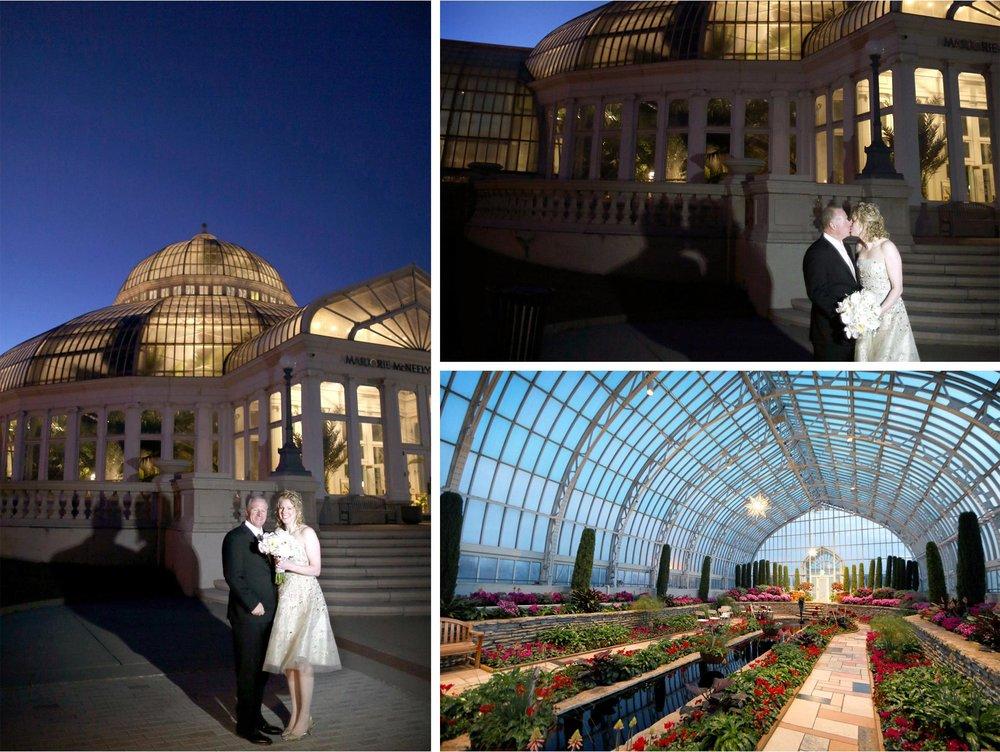 10-Saint-Paul-Minnesota-Wedding-Photographer-by-Andrew-Vick-Photography-Winter-Como-Park-Conservatory-Sunken-Garden-Ceremony-Bride-Groom-Kiss-Night-Flowers-Dannette-and-Darren.jpg