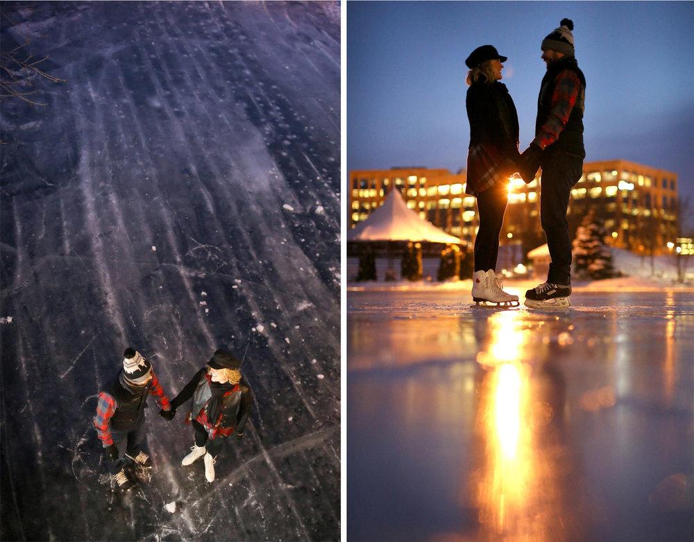 09-Edina-Minnesota-Wedding-Photographer-by-Andrew-Vick-Photography-Winter-Engagement-Bride-Groom-Snow-Bridge-Night-Lights-Ice-Skating-Frozen-Pond-Heather-and-Rob.jpg