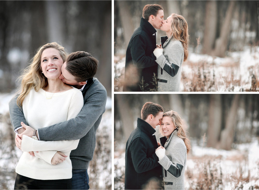 02-Edina-Minnesota-Wedding-Photographer-by-Andrew-Vick-Photography-Winter-Engagement-Bride-Groom-Snow-Kiss-Embrace-Vintage-Emily-and-Jon.jpg