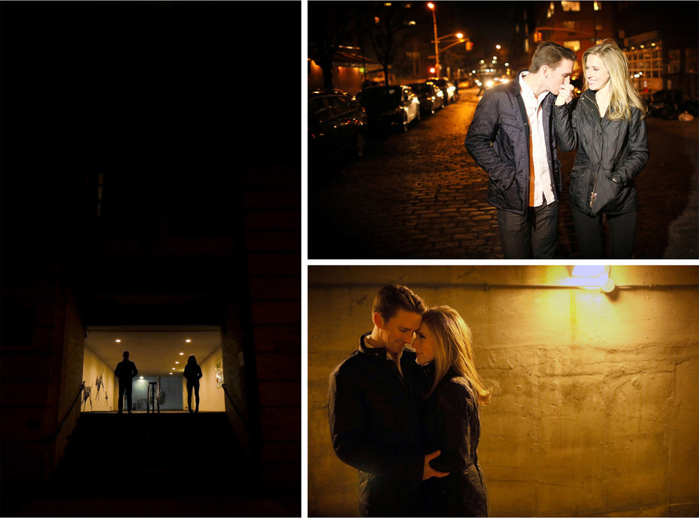 06-New-York-City-Wedding-Photographer-by-Andrew-Vick-Photography-Winter-Engagement-Bride-Groom-Night-Kiss-Silhouette-Emily-and-Jon.jpg