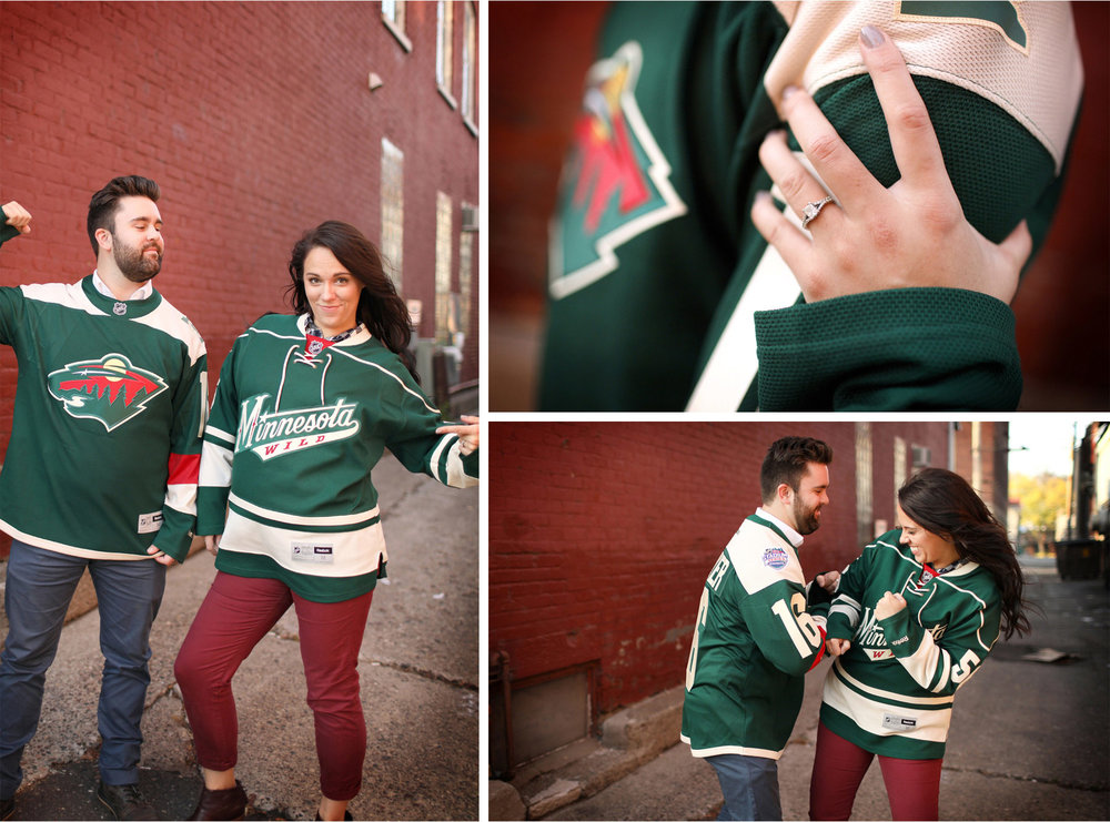 09-Stillwater-Minnesota-Wedding-Photographer-by-Andrew-Vick-Photography-Fall-Autumn-Engagement-Bride-Groom-Wild-Jerseys-Hockey-Fight-Ring-Gillian-and-Nick.jpg