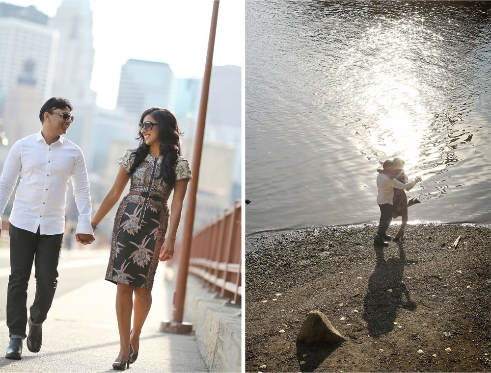 09-Minneapolis-Minnesota-Wedding-Photographer-by-Andrew-Vick-Photography-Summber-Engagement-Bride-Groom-Downtown-Stone-Arch-Bridge-Sunglasses-Skyline-Mississippi-River-Natasha-and-Sohail.jpg