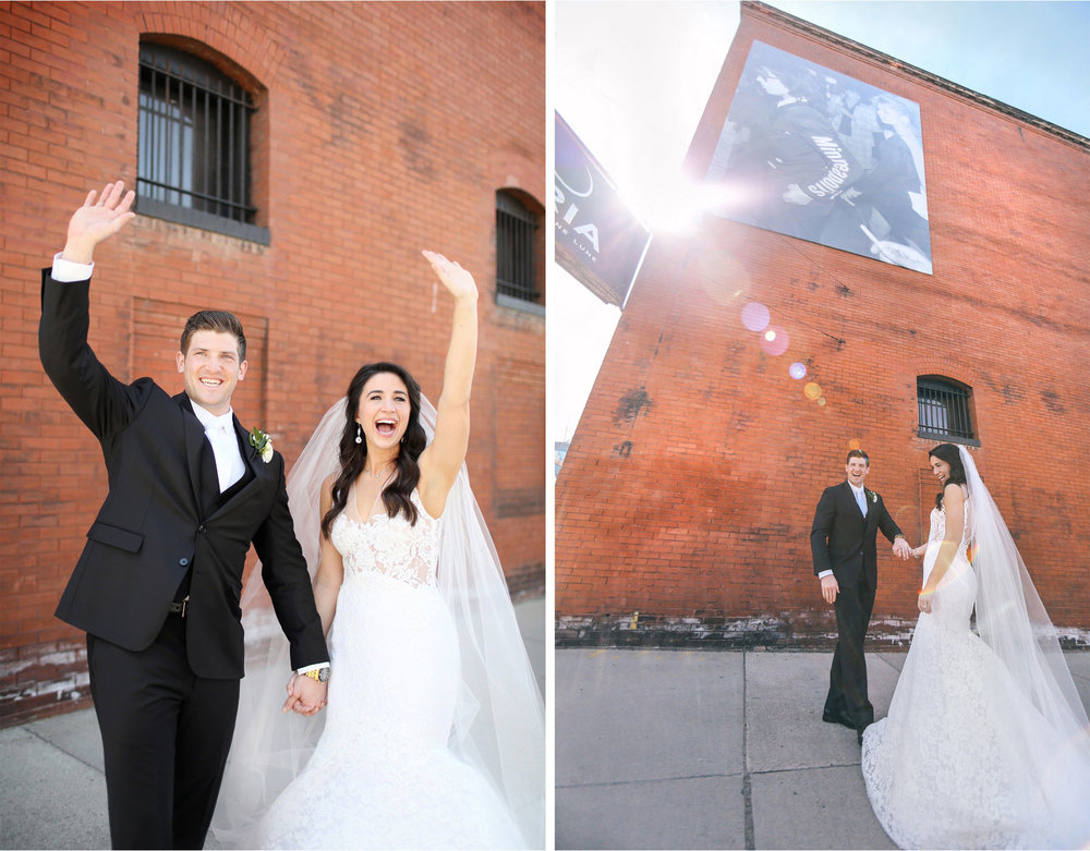 05-Minneapolis-Minnesota-Wedding-Photographer-by-Andrew-Vick-Photography-Aria-Spring-First-Meeting-Look-Bride-Groom-Waving-Laughter-Sunflare-Alex-and-Andy.jpg
