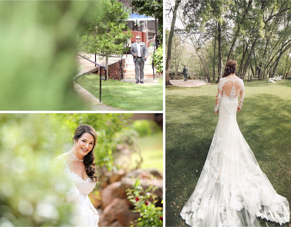 06-Sedona-Arizona-Wedding-Photographer-by-Andrew-Vick-Photography-Spring--LAuberge-de-Sedona-Resort-First-Meeting-Look-Bride-Groom-Dress-Wine-Sunglasses-Barbara-and-Mike.jpg