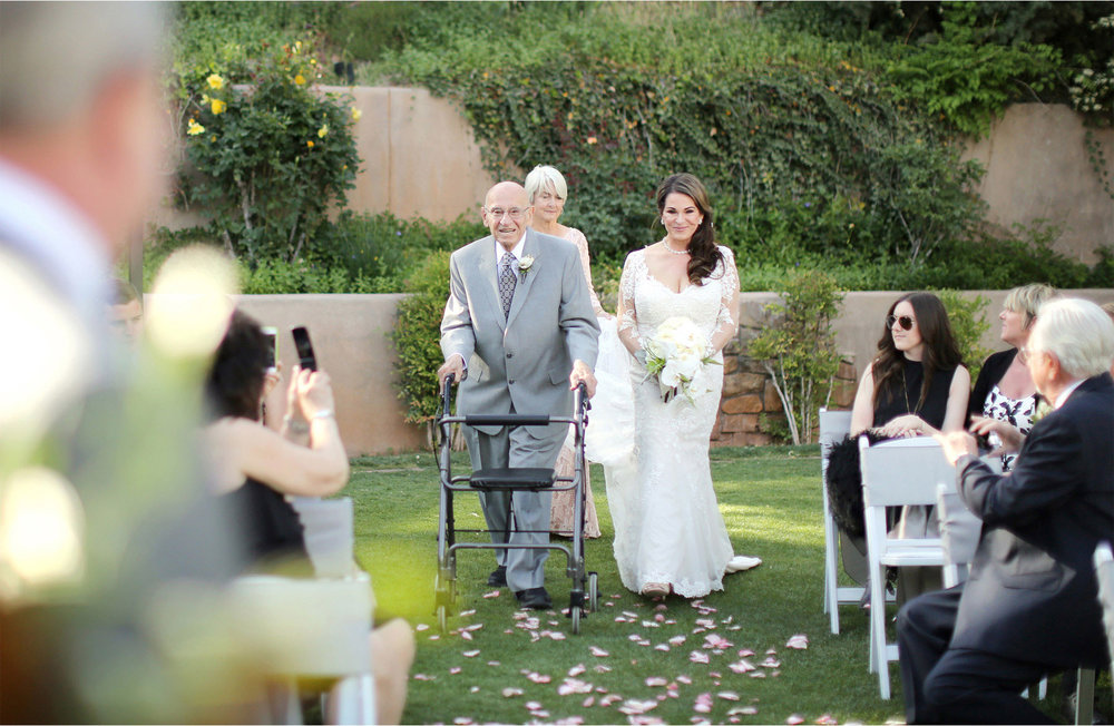16-Sedona-Arizona-Wedding-Photographer-by-Andrew-Vick-Photography-Spring--LAuberge-de-Sedona-Resort-Ceremony-Garden-Lawn-Bride-Father-Mother-Parents-Processional-Barbara-and-Mike.jpg