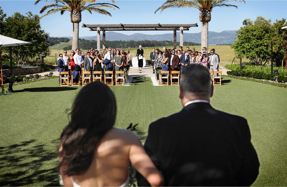 13-Napa-California-Wedding-Photographer-by-Andrew-Vick-Photography-Spring-Destination-Carneros-Resort-and-Spa-Ceremony-Bride-Father-Parents-Processional-Alex-and-Roger.jpg