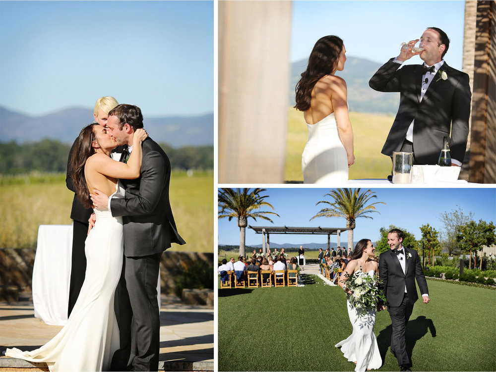 16-Napa-California-Wedding-Photographer-by-Andrew-Vick-Photography-Spring-Destination-Carneros-Resort-and-Spa-Ceremony-Bride-Groom-Wine-Kiss-Recessional-Alex-and-Roger.jpg