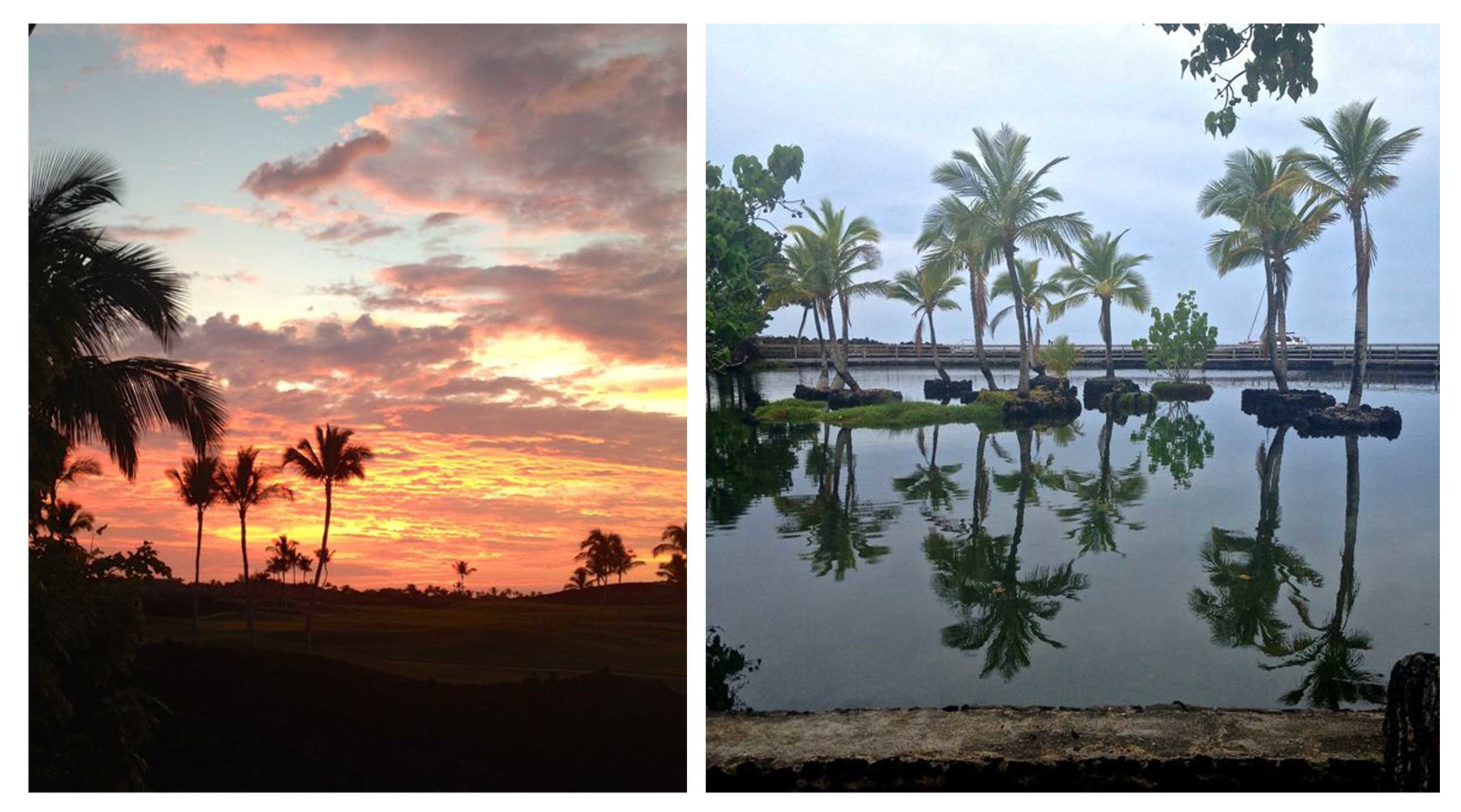 Sunset and late afternoon