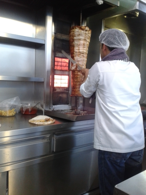 Heaven being served up….Shawarma on Samoon (fluffy pita like bread)