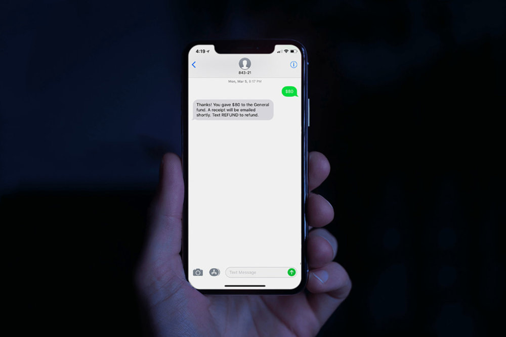 Mobile Giving - To give via text for the first time, text your dollar amount to 84321 (e.g. $200). Smart Giving uses industry-leading security to protect your personal information, and is never charged to your phone bill.