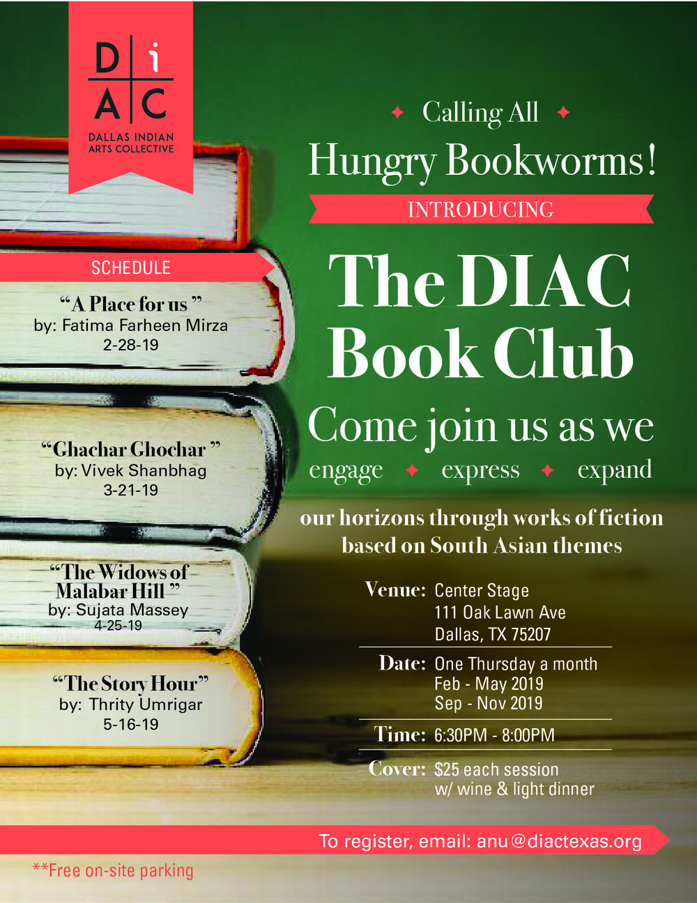 The DIAC Book Club - Calling all hungry book worms!