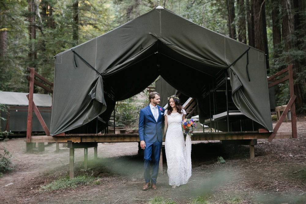 Colorful Camp Campbell Wedding Santa Cruz