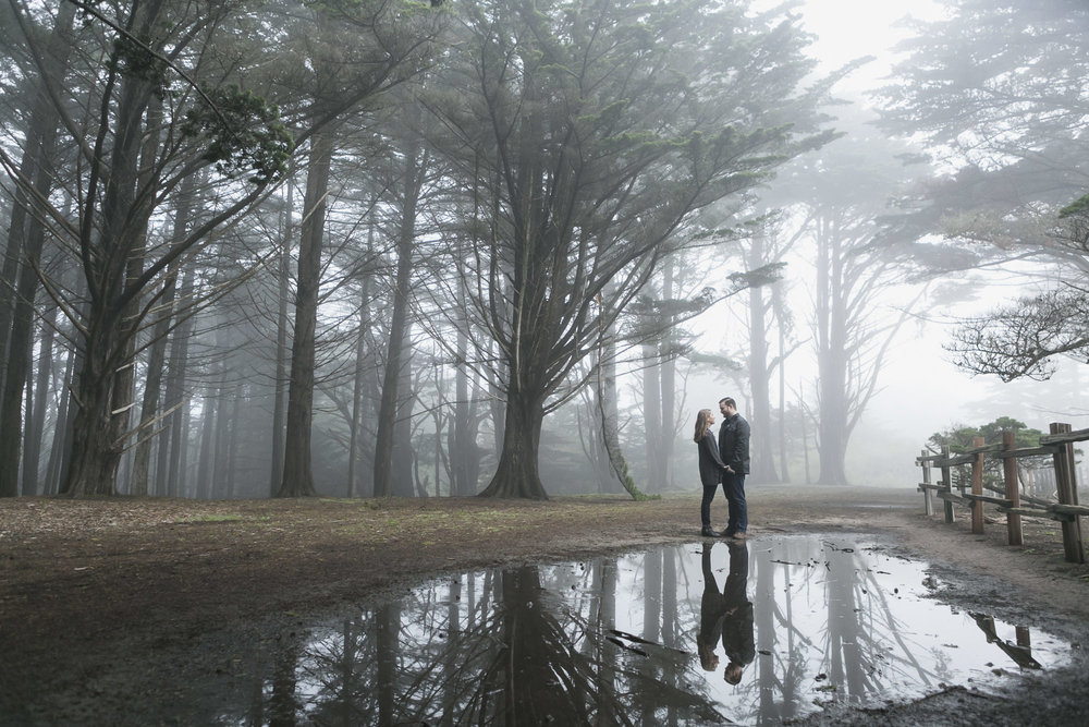 003_Half_Moon_Bay_Foggy_Engagement_Reflection_Forest.jpg