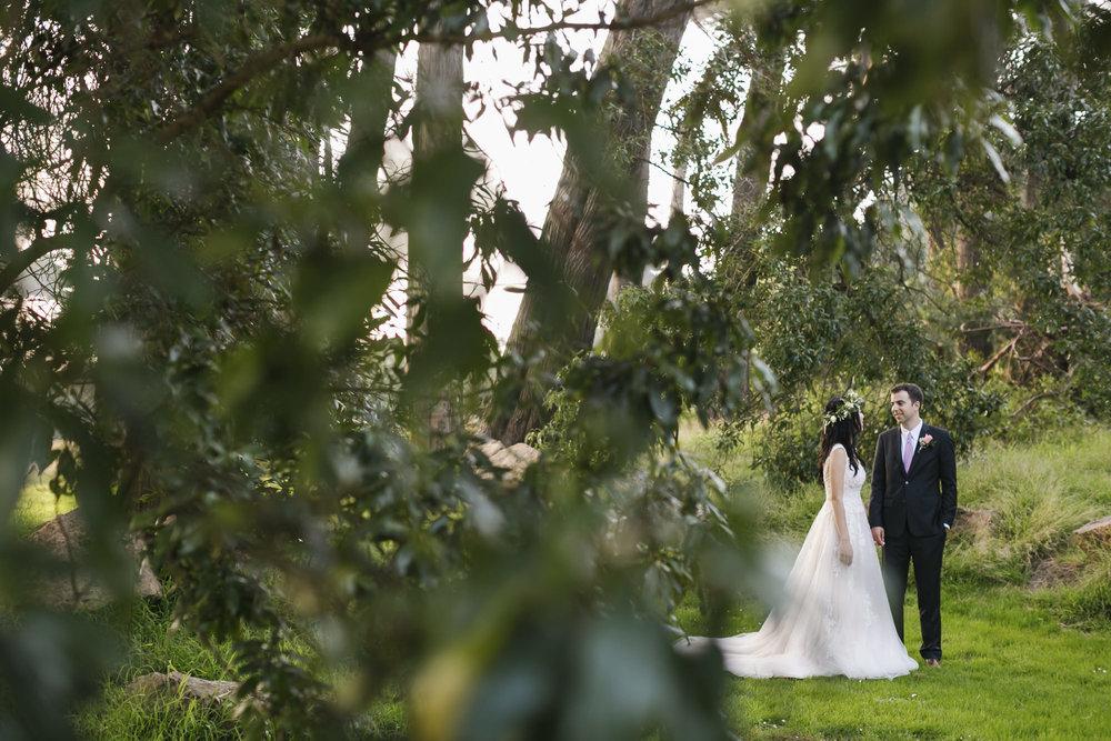 Wedding couple in Golden Gate Park San Francisco