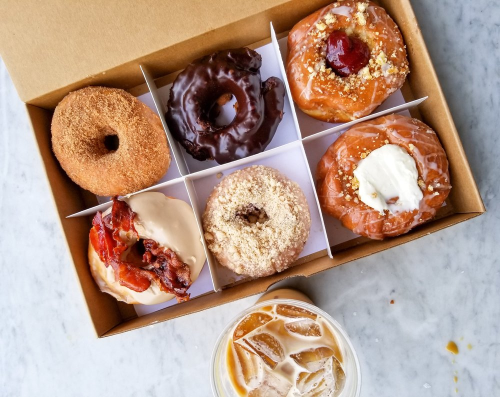 Who said doughnuts couldn't get you a six pack? Doughnuts from Do-Rite Donuts in Chicago, IL