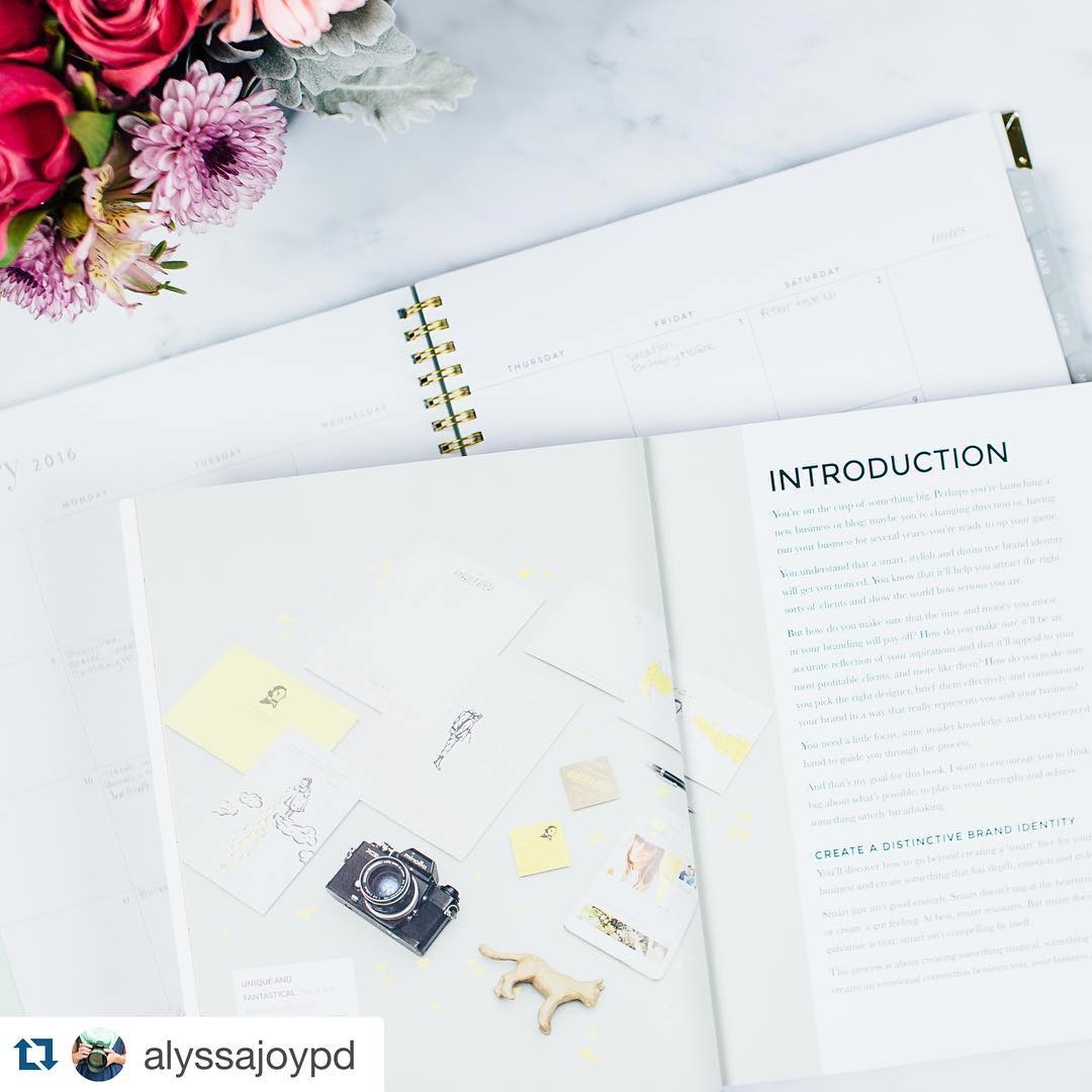Loved this pic by @alyssajoypd of #thebrandstylistbook I'm currently writing #thebrandstylistbook2 and finding it a challenge! I keep forgetting that the glossy, beautiful book that's sat on my desk right now was once a jumble of half sentences and trailing thoughts. Onwards! #amwriting