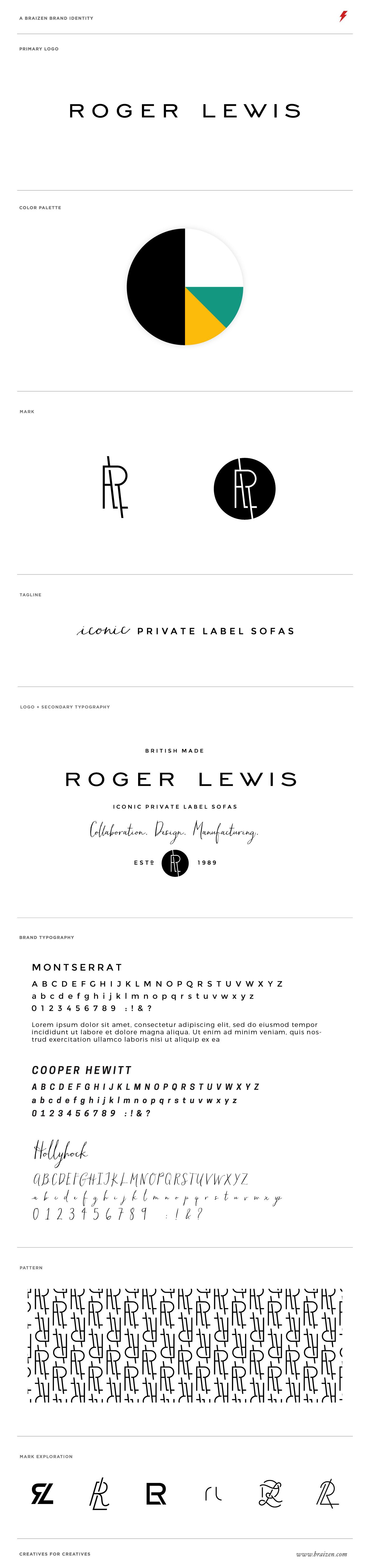 Roger Lewis Brand Identity by Braizen