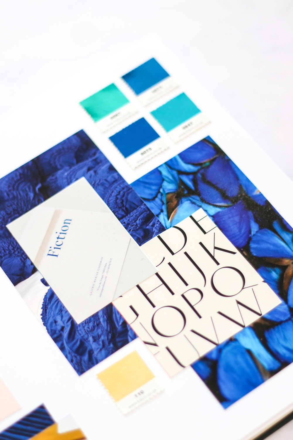 elegant typography - and a singular colour palette