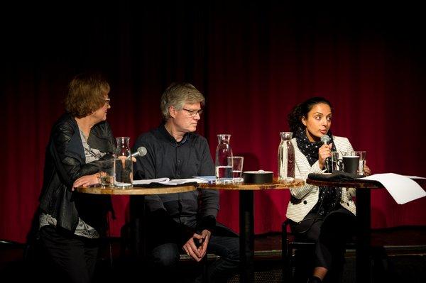 Foto: foto.samfundet.no  Fra venstre: Berit Gullikstad, Gjermund Ringsrød og Dana Æsæl Manouchehri. (Først publisert i Dusken.no)