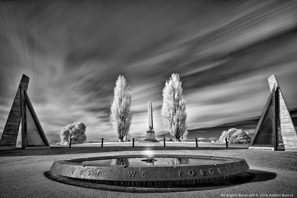 Hobart Cenotaph in Infrared