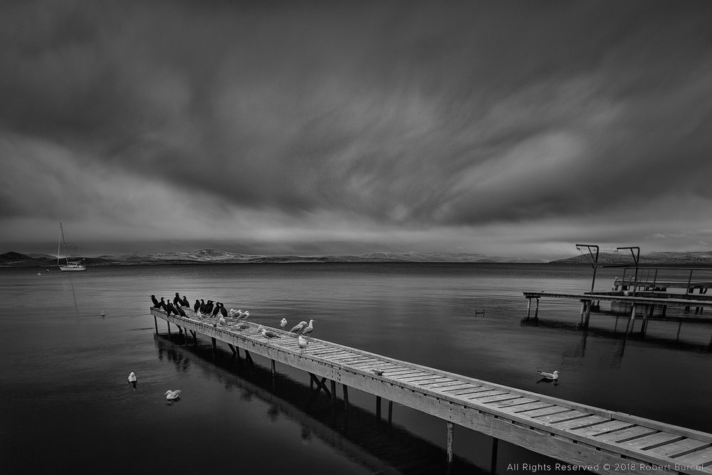 Long jetty in Tasmania, Infrared