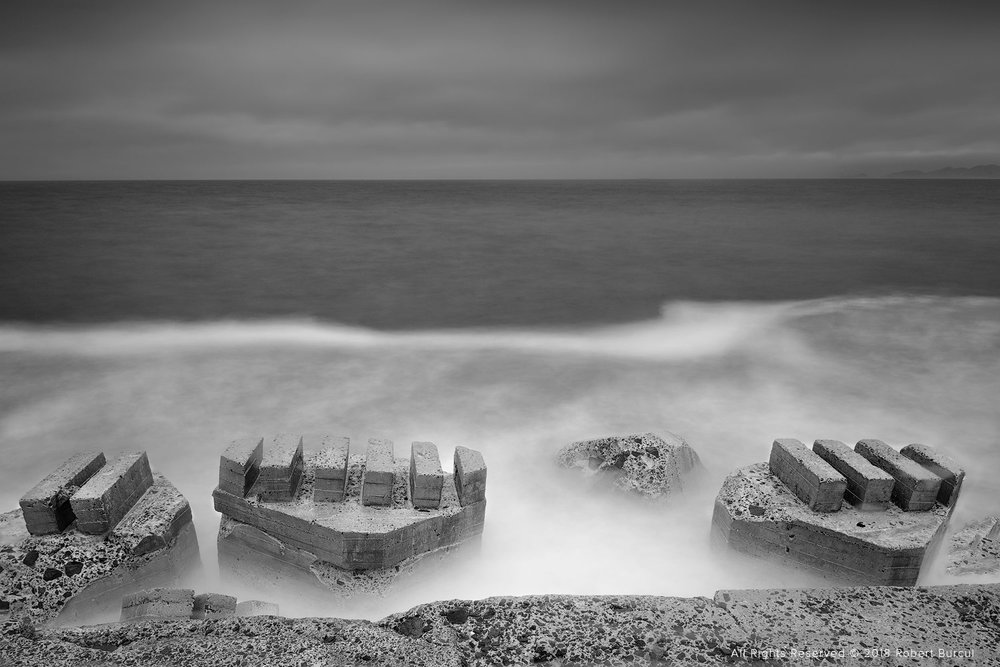 Wave breakers, Tasmania Infrared