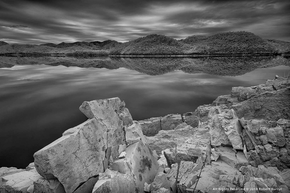 Time stands still at Lake Burbury , Tasmania