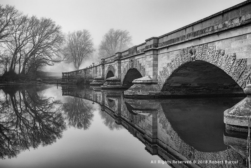 Ross Bridge , Black and White photograph by Robert Burcul ( please note photograph is not captured in Infrared )