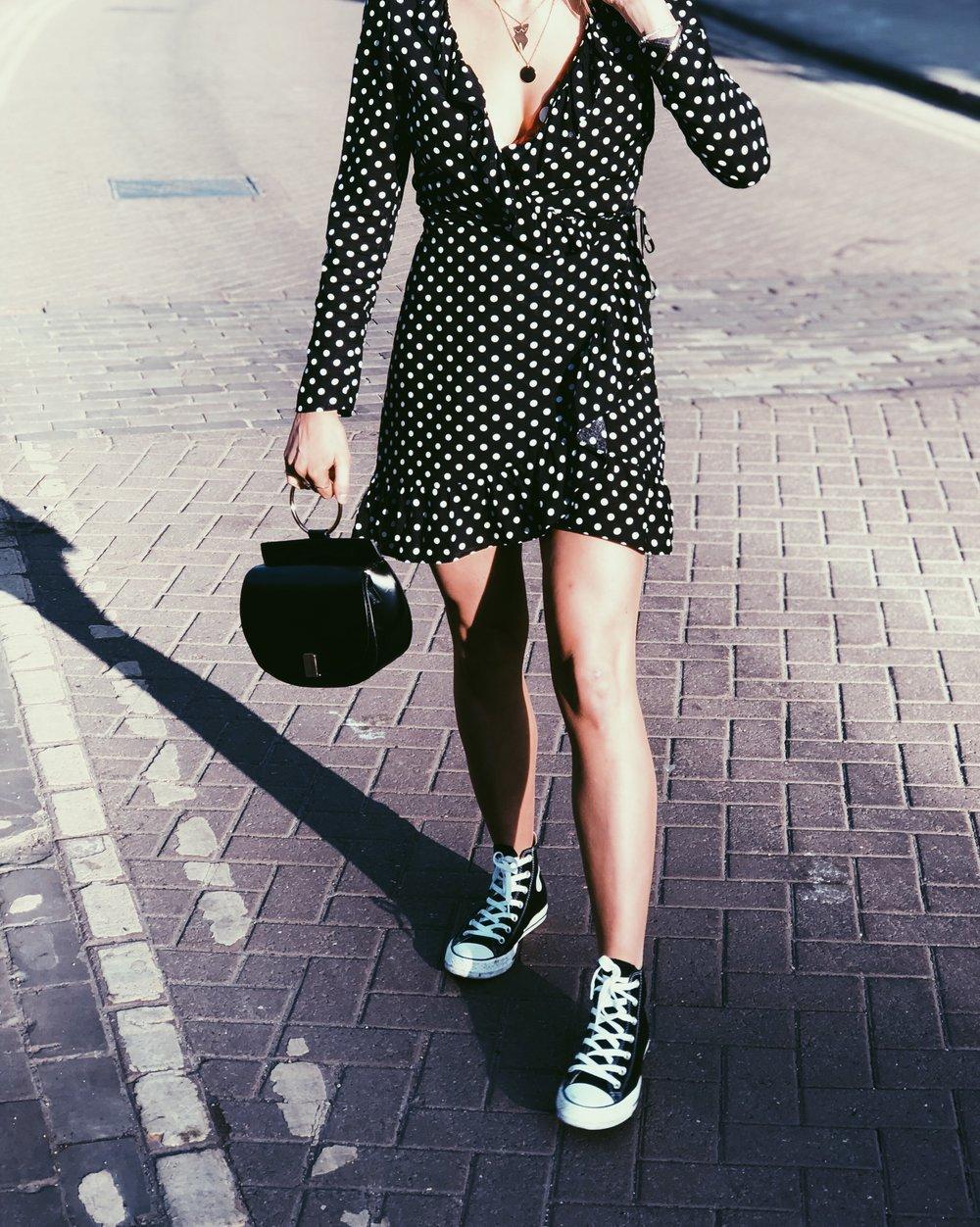Dress: Miss Selfridge, Bag: Primark, Shoe: Converse