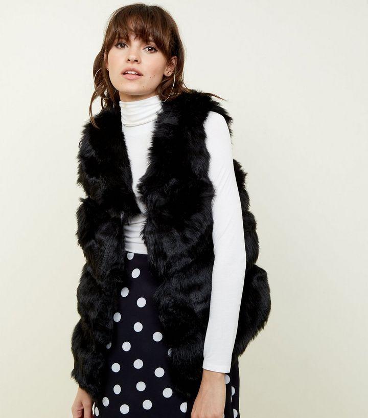 Black Faux Fur Gilet £39.99