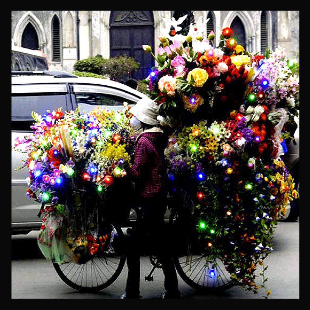 marchande de fleurs cathédrale hanoï