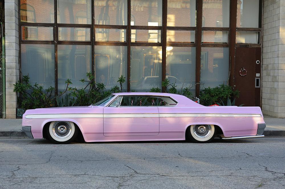 pink car vintage