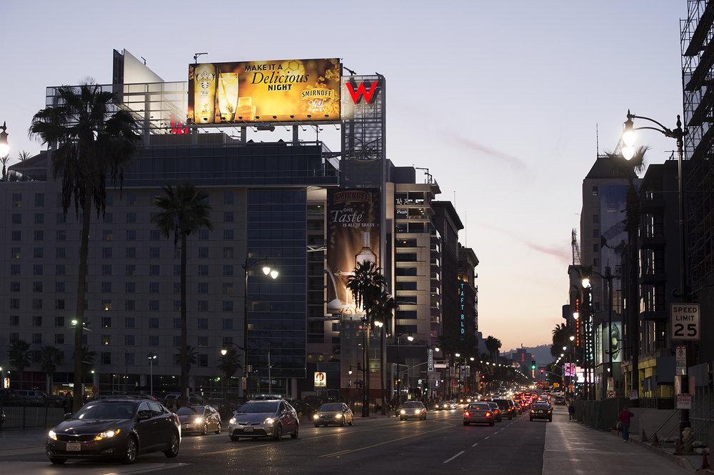 hollywood blvd de nuit