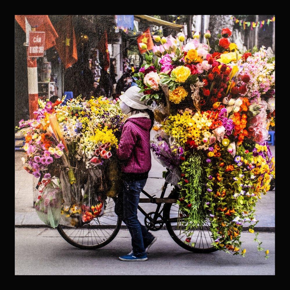 marchande de fleurs rue hanoï