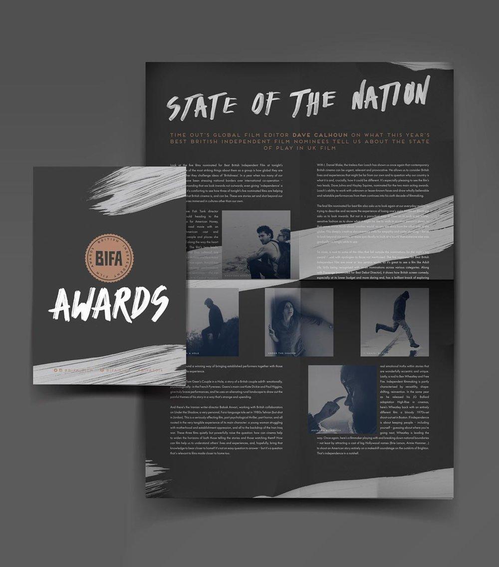 Programme / Print / Branding / Event / Awards / BIFA