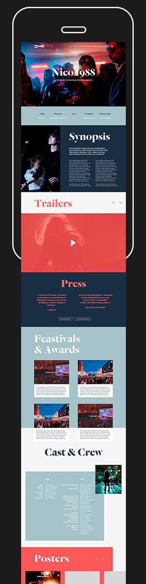 Mobile Site / Online / Digital / Branding / Celluloid Dreams