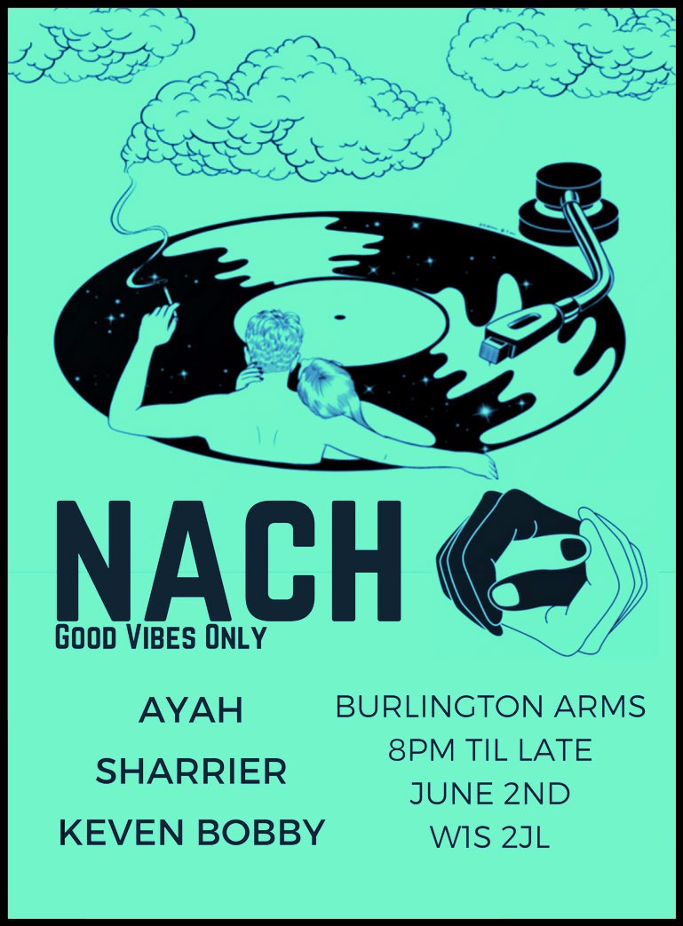 (pronouncd Naa - chh) - Settled in the cozy corner of the west end we intend to take the music deeper and darker as the night goes on.This is a night of Good Vibes Only...come and enjoy in good company.One Love.Funk/Disco/House/Techno