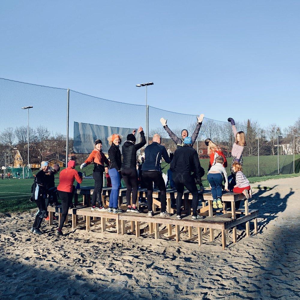 """Topp stemning på søndagsklubben. I dag på """"Voldsløkka Beach"""":-)"""