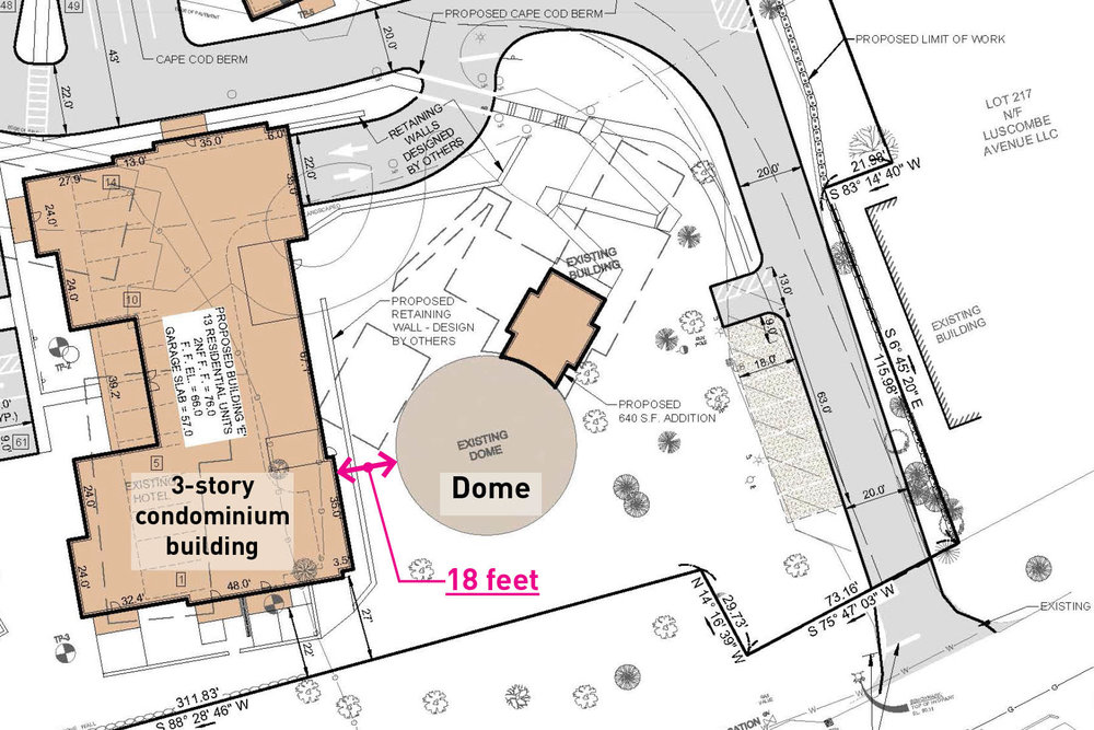 """Proposed plan showing second-class status and destroyed """"view shed"""""""
