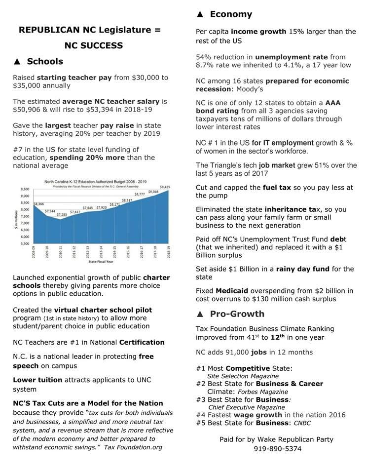Republican Legislature = Jobs and Economic Growth!