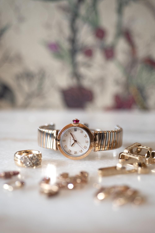 Bulgari Lucea, steel, gold, and diamonds, $11,000   ; troverie.com