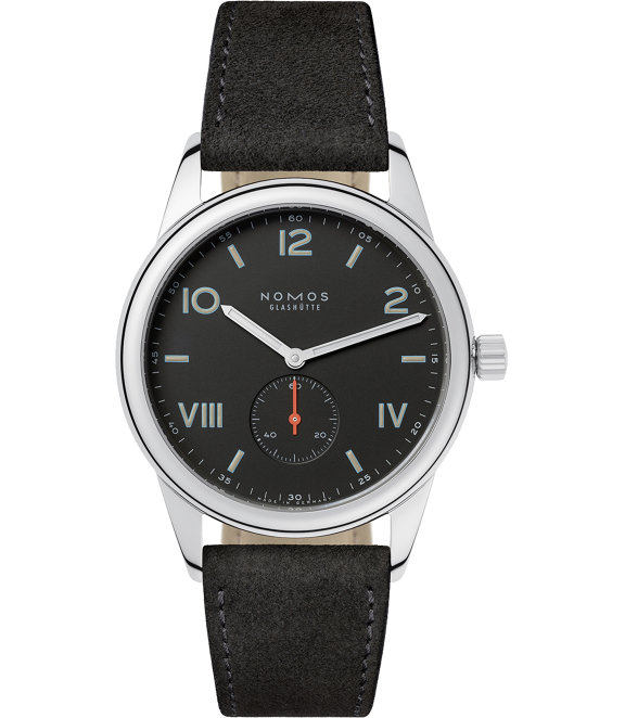 Nomos Glashütte Club 38 Campus Nacht - The Club Campus is a great choice for the guy who has his finger on the design pulse. The well loved German designed Club got a moody update with a dark grey face – but is still plenty legible thanks to the luminous hands and numerals.Nomos Glashütte Club 38 Campus Nacht, $1,650; troverie.com.