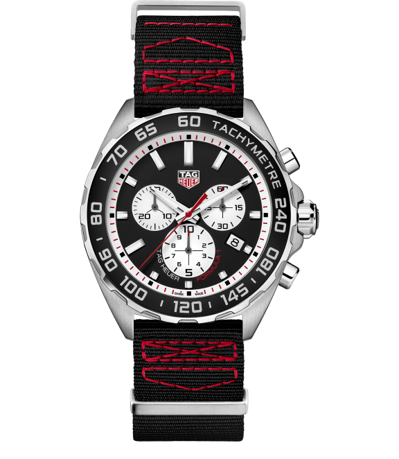 TAG Heuer Formula 1 - A casual sports watch in a fiery black-red color combo for the Grand Prix hopeful in your life. This TAG is a remarkably well priced chronograph, with a date indicator to boot.TAG Heuer Formula 1, $1,400; troverie.com.