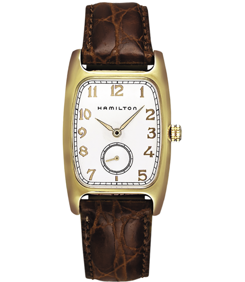 Hamilton Boulton Quartz - A nostalgic style for the vintage loving man, this watch was originally released in the 1940's but remains a Hamilton top seller today.Hamilton Boulton Quartz, $625; troverie.com