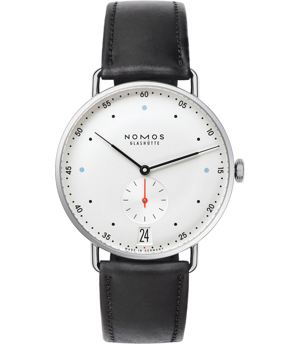 NOMOS Glashütte Metro 38 Date - A slightly larger version of the best-selling Metro, this sleek and sophisticated timepiece is perfect for the city-dweller in your life.Nomos Glashütte Metro 38, $3,480; troverie.com